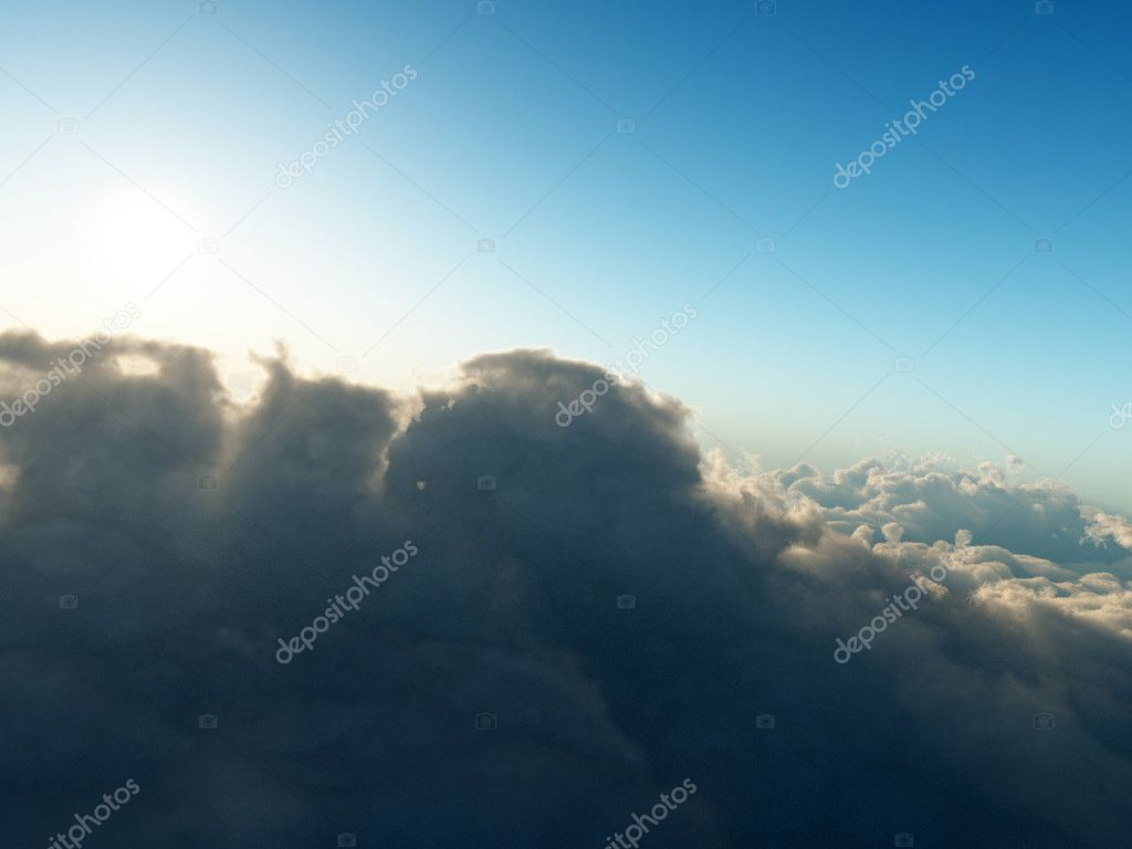 View from airplane on clouscape — Stock Photo #6100825