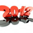 3d new year 2012 — Stock Photo #6299288