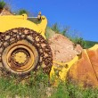 Royalty-Free Stock Photo: Old  yellow bulldozer.