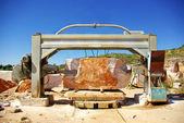 Machinery in quarry of marble extraction. — Stock Photo