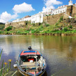 Landscape of Mertola and Guadiana river. - Stock Photo