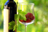 Red wine and red fruits. — Stock Photo