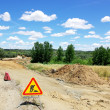 Road works at south of Portugal. — Stock Photo