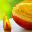 Stock Photo: Close-up of sliced mango
