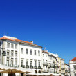 Giraldo square, Evora, south of Portugal - Stock Photo