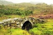 Old Roman bridge, Castro de Laboreiro, north of Portugal. — Stock Photo