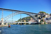 D. luis bridge in porto portugal — Stock Photo