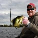 Crappie fishing — Stock Photo