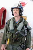 Navy fighter pilot united states — Stock Photo