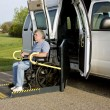 Stock Photo: Handicap wheelchair lift