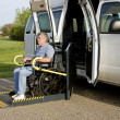 Handicap wheelchair lift — Stock Photo #5680716