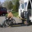 Handicapped wheelchair lift - Stock Photo