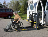 Handicapped wheelchair lift — Stock Photo
