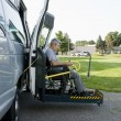 Disability conversion van - Stock Photo