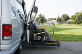 Disability conversion van — Stock Photo