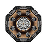 Metal type octagon — Stock Photo