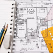 Blueprint house plan — Stock Photo