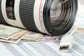 Earn money with your camera — Stock Photo