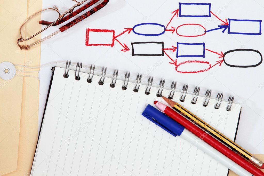 Process Flow Diagram  U2014 Stock Photo  U00a9 Fiftycents  5424342