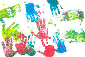 Colored hands print — Stock Photo