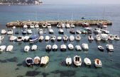 Boats in Dubrovnik harbor — Photo