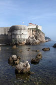 Dubrovnik old town city walls detail. Fortress — Stock Photo