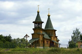 Antiga igreja de madeira — Fotografia Stock