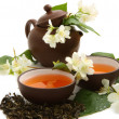 Green tea with jasmine — Stock Photo #5878283
