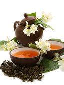 Green tea with jasmine — Foto de Stock