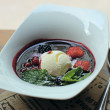 Постер, плакат: Berries dessert with ice cream