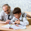 Teacher and schooboy — Stock Photo #6318389