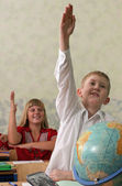 Pupils at classroom — Stock Photo