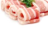 Raw bacon rashers — Stock Photo