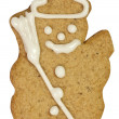 Gingerbread snowman — Stock Photo