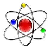 Red atom — Stock Photo
