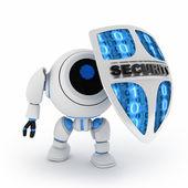 Robô e escudo — Foto Stock