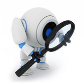 Robot and lens — Stock Photo