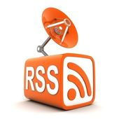 Abstract symbol RSS — Stock Photo