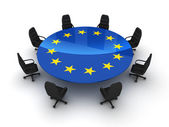 Circle table EU — Stock Photo
