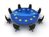Circle table EU — Stock Photo