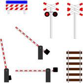 Railway crossing symbols — Stock Photo