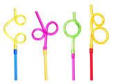 Funny straws — Stock Photo