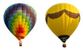 Hot air balloons, isolated against background — Stock Photo