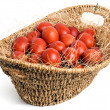 Basket with eggs - 图库照片