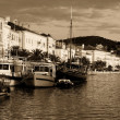 Toned Losinj port — Stockfoto