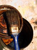 ペイント ブラシを使用します。 — ストック写真