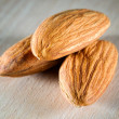 Three almonds — Stockfoto