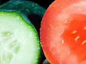 Cucumber and tomato — Stock Photo