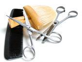 старый парикмахер инструмент — Стоковое фото