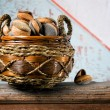 Basket of almonds — Foto de Stock